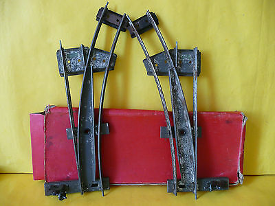Hornby O Gauge Clockwork Tinplate Left hand & Right Hand Points x 2