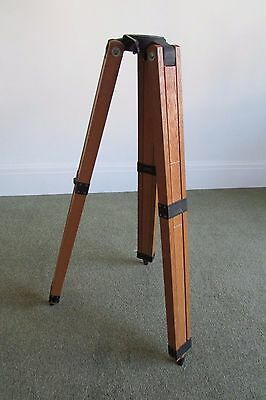 Vintage Wooden Telescope Tripod,ideal for Lamp,Lighting base,fully adjustable.