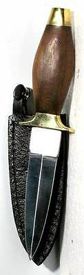 """Wood Handled 7"""" Athame Boot Knife Gothic Wiccan Pagan Witchcraft Altar RATH7"""