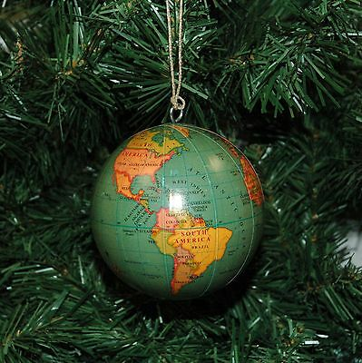 World, Globe, Earth Christmas Ornament