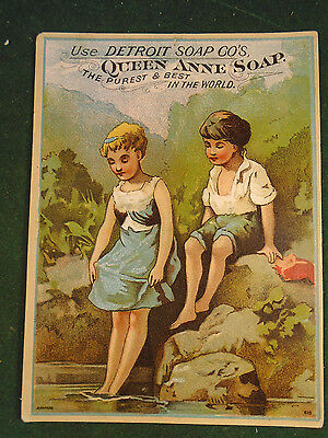 Victorian Trading Card Detroit Queene Anne Soap   (7056-3)