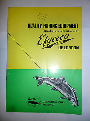 Vintage EFGEECO Fishing Catalogue/Tackle Guide 1971 price list