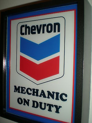 Chevron Oil Gas Service Station Garage Advertising Man Cave Lighted Sign