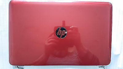 For Laptop HP Pavilion 15 e072sa RED Top Lid Cover+ Hinges + lcd screen cable