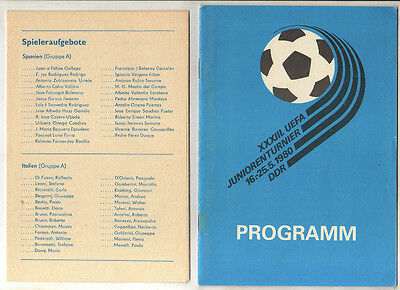 Orig.Complete PRG  U19 European Championship GDR 1980 - with England/Italy/Spain