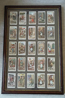 Cries Of London Players Cigarette Full Set of 25 Cards in Presentation Frame