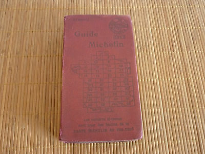 michelin guide rouge france 1922