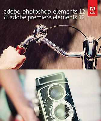 Adobe Photoshop & Premiere Elements 12 Full Version For PC / Mac - Sealed CD