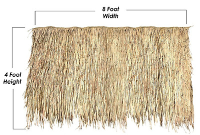 4' x 8' Thatch Panel Mexican Palm Tiki Bar Roof Pool Cabana Hut Commercial Grade