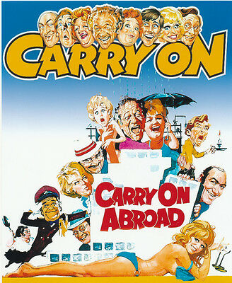 Carry On Abroad UNSIGNED poster photo - H3962