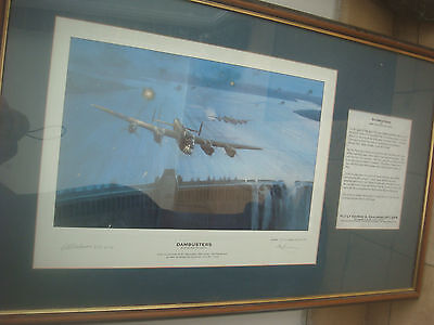 Framed Limited Edition 170/617 Print The Dambusters  - Signed - Chambers DFC