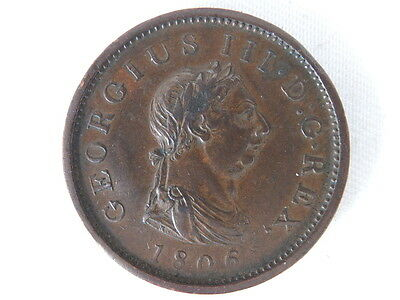1806 George Iii Penny Coin  ( 637)