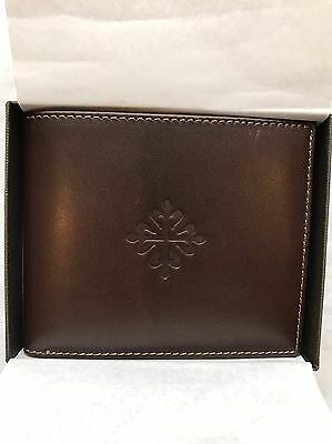 Patek Philippe  Calf Leather Brown Wallet New In Box - Located In Us