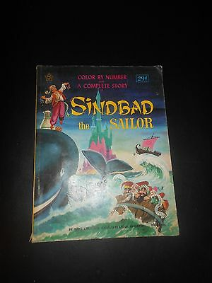 HAPPINESS COLORING BOOK  Sindbad The Sailor Coloring Book 1967 TWINKLE BOOKS