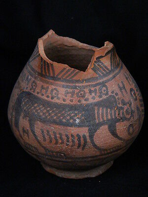 Ancient Teracotta Painted Pot With Lions Indus Valley 2500 BC #PT15603
