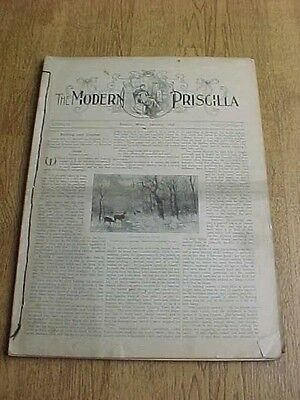 1886 The Modern Priscilla Embroidery Knitting Crochet 12 Issues Bound I Year