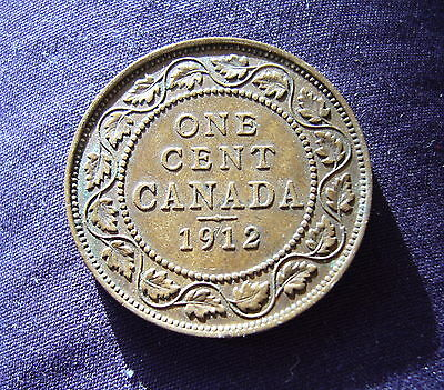 Canada, 1912, One Cent, King George V.
