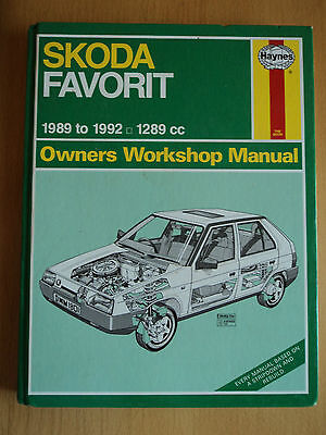 Skoda Favorit Haynes Owners Workshop Manual  FREE POSTAGE