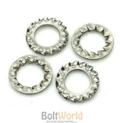 Internal External Tooth Serrated Lock Washers Shakeproof Stainless Steel Washer