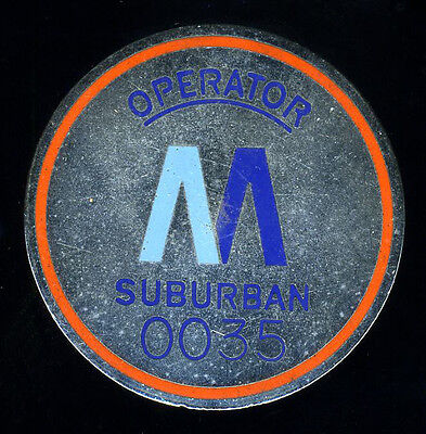 New York City Transit Suburban Line Operator Badge # 0035