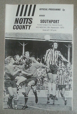 Notts County v Southport League Cup 2nd Round 1972 - 1973