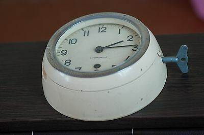 CLOCK Vintage USSR Russia Military collect mechanical Navy Submarin Metal Glass