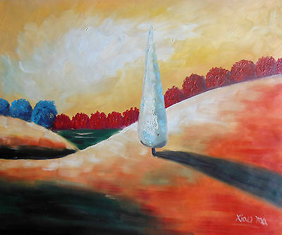 """California ART Decorate Abstract On Canvas 20x24"""" Oil Painting Landscape H2720"""