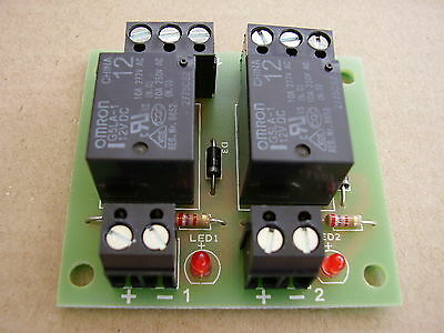 2 way relay board , 12vdc operation