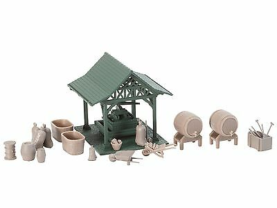 WINE PRESS with ACCESSORIES - HO SCALE KIT-SET by FALLER # 190465/4
