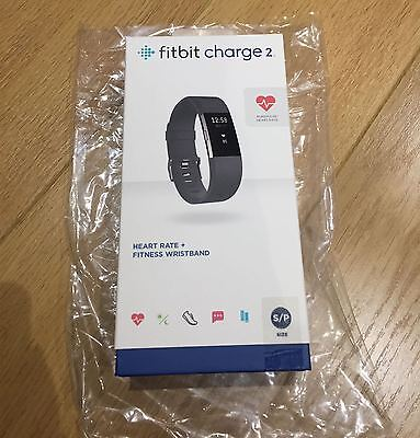 FITBIT charge 2 heart rate monitor fitness monitor BRAND NEW sealed small black