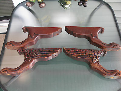 Set Of 4 Carved Victorian Paw Feet With Wings