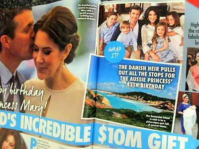 Princess Mary Prince Frederik  Royalty 2 Pg  Magazine Feature Photo  Jan 2017