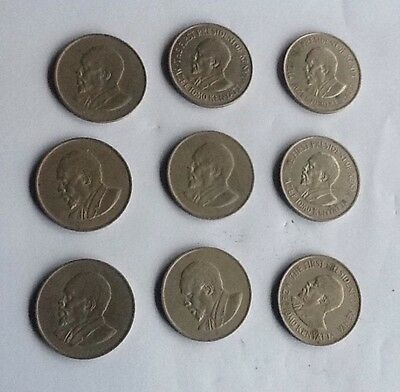 Kenya, Africa 1971 (4) 1967 (1) 1968 (4) One Shilling Coins First President