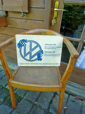 German VW Volkswagen ORIGINAL DEALER SIGN promoting VW1200 1500 from 1967-69 !