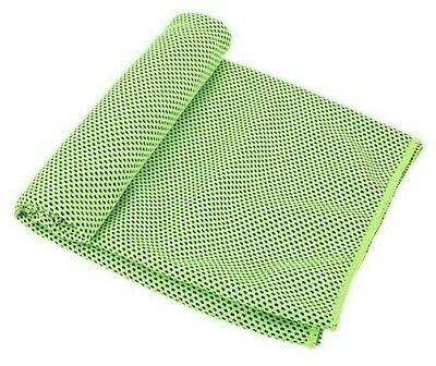 New Instant Cooling.The GREEN Towel. Cold Sports Cool Bandana. GREAT FOR HIKERS