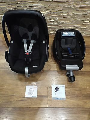 MAXI COSI PEBBLE BLACK ( 0 - 13 kg ) GROUP 0 - BABY CAR SEAT and EASY BASE 2