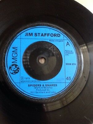 "Jim Stafford - Spiders & Snakes 7"" single (MGM - 1973)"