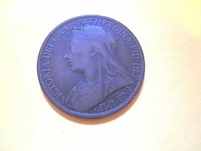 Great Britain Penny 1899 UK Lightly Circulated  (99 Cents Shipping)