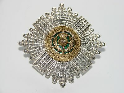The Scots Guards Officer's Forage Cap badge silver and gilt original