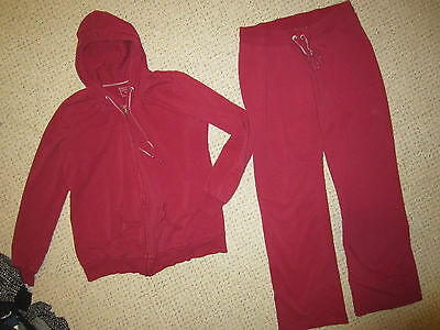 women's Motherhood Maternity dark red hoodie pants track suit outfit size Medium