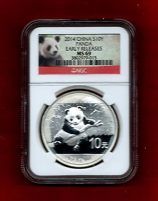 2014 China S10Y Panda - Early Releases - Ngc Ms 69