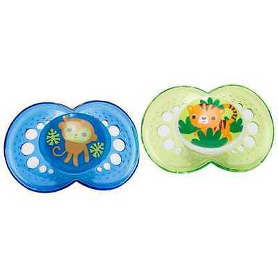 NEW MAM Crystal Silk Teat Pacifiers 2 Pack