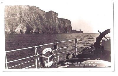 Old Man of Hoy S.S. ST OLA STEAM SHIP Aberdeen STEAMER Orkney OLD PHOTO POSTCARD