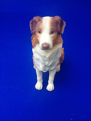 Collectible Poly Resin Statue Figurine Pet Home Australian Sheep Dog Doggy