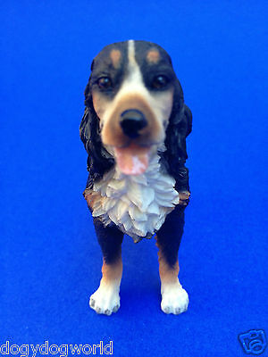 Bernese Mountain Doggy Collectible Poly Resin Statue Figurine Pet Dog Doggy