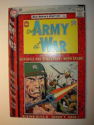 Our Army at War #148 FN+1964, DC Silver Age War comic, Joe Kubert cover & art