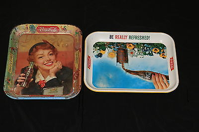 Two Vintage Coke Trays, Priced To Sell Buy Now