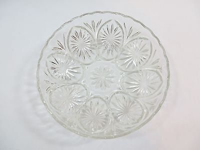 """Anchor Hocking Vintage Oatmeal Glass Bowl 8"""""""