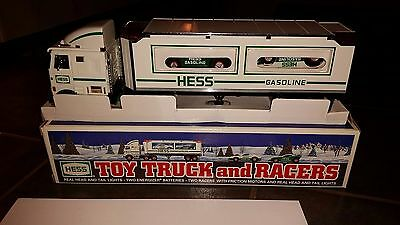 1997 Hess Toy Truck and Racers In Box
