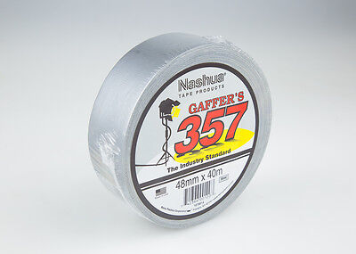 Nashua 357 Gaffer Tape Silver - 48mm x 40mtr.  Carton of 24 rolls.